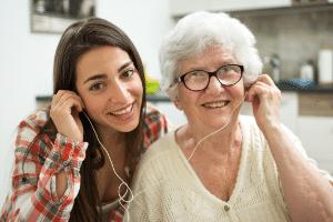 Samen muziek luisteren